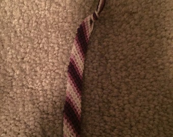 Purple candy stripe bracelet