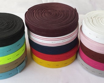 19mm wide button hole elastic