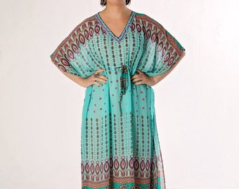 The 2nd item from our 'Morning Shore' kaftan range - Zircon