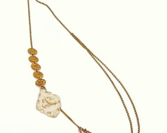 Necklace 'Golden frozen wintersday'