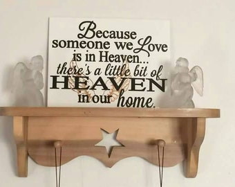 Because someone we love is in heaven memorial tile.