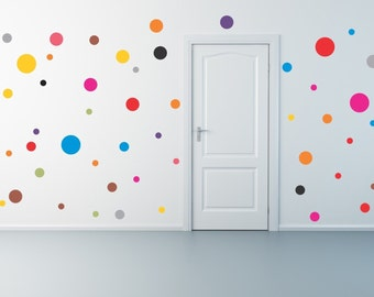 Fifty  Polka Dot Wall Decals removablevinyl stickers
