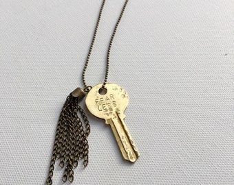 Impact Key Long & Delicate Necklace