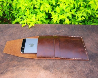 Genuine Vintage Leather Phone Case, iphone 6 cover, wallet case, phone wallet case, leather iphone 6s case,leather phone cover, leather case