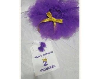 Princess Approved Birthday Tutu set
