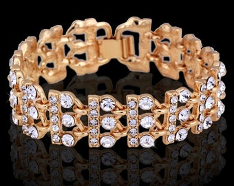 Austrian Crystal and gold-plated bracelet
