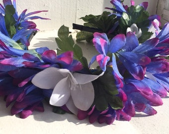 Blue Purple Ombre Flower Crown