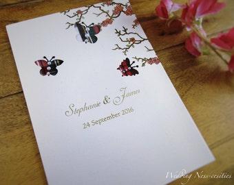 Floral & Tartan Butterfly Invitation
