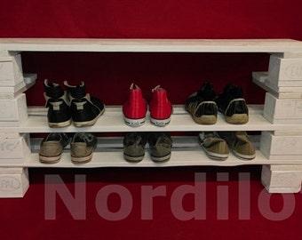 Pallet furniture shoe rack No.. 6