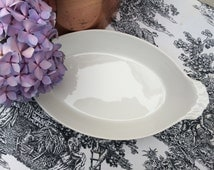 Set of Two French White Ware Pillivuyt Au Gratin Dishes
