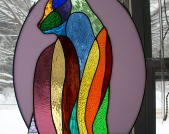 Rainbow Cat Window