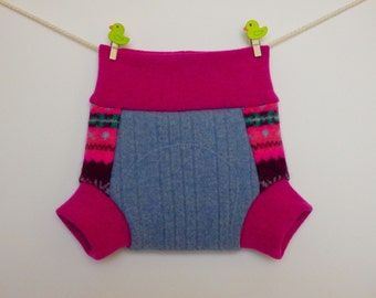 Baby soakers, lambswool, Size S