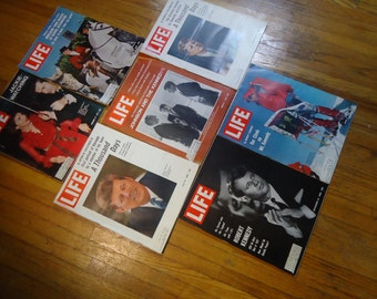 1960s and 1970s Vintage Kennedy Life Magazines - Jackie Kennedy, Vintage JFK, Vintage Life Magazine, John F. Kennedy, JFK Kennedy collection