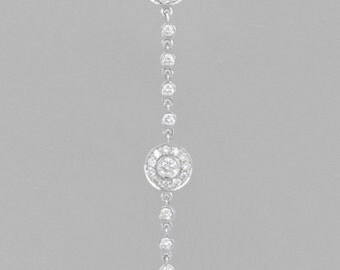 14 K white gold necklace diamond 1.20 CT