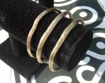 x3 Ethiopian Brass Bangles