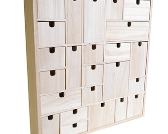 Cabinet 24 drawers in wood to customize - furniture storage