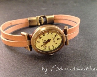 Watch leather bronze natural