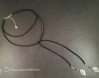 Chain Choker black silver