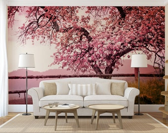 Cherry blossom wall decal etsy for Cherry blossom tree wall mural