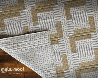 Baby Blanket Quilt Checks, Dots & Stripes