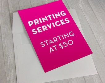 Invitation Printing Service | Printed Invitations | Cardstock Invitations with White Envelopes and Printed Return Address