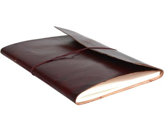 Gusti leather 'Fiona' Leather Notebook B4