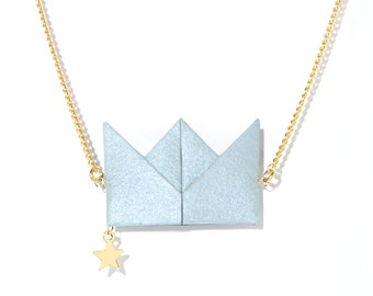 Necklace - Drama Queen - pastel blue
