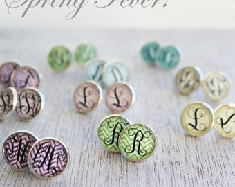 Spring Fever Monogram Earrings