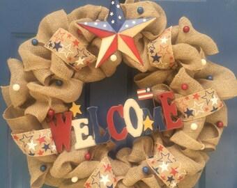 Americana Welcome Wreath