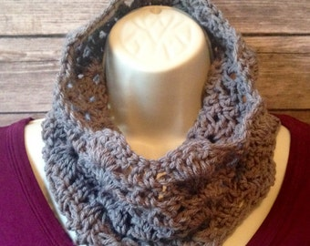 Claire Scalloped Cowl, Fall Cowl, Winter Cowl, Infinity Scarf