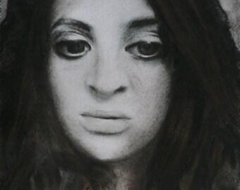 custom charcoal portrait from photo