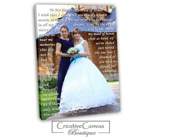 Maid Of Honor Speech To Canvas. Custom Canvas Print. Best Friend B'day/ Xmas Gift. Canvas With Lyrics, Wedding Song, First Dance Song.