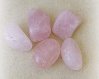 Rose Quartz Crystals, Tumbled Stones, Healing Crystals, Witchcraft Supplies, Rose Quartz Stones, Metaphysical Supplies, Quartz Tumbled Stone