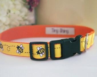 Warm Bumblebee - Dog Collar Handmade