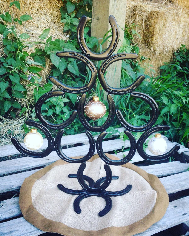 Horseshoe christmas tree rustic country christmas tree home for Christmas tree made out of horseshoes