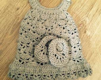 Girl's Dress & Shoe Set