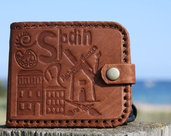 Handmade Leather Wallet mens