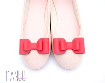 Coral bows - shoe clips Manuu