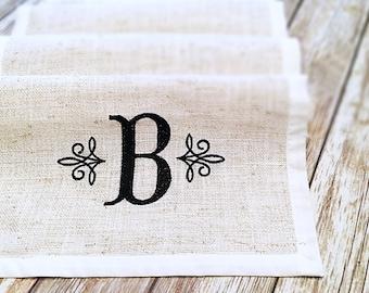 Burlap Table Runner- Burlap Runner- Farmhouse Table Runner- Wedding Table Runner- Burlap Table Linen- Monogrammed Runner- Rustic Runner-
