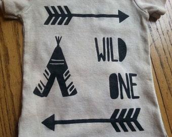 "Hand Painted ""Wild One"" Onesie"