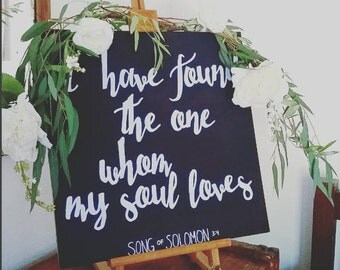 Engagement|Wedding| anniversary|| Permanent Song of Solomon Chalkboard