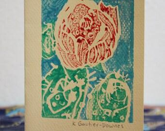 Red Desert Flower Card