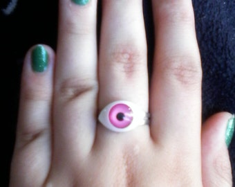 Pink or Yellow Eye Ring