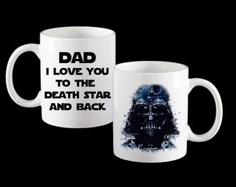 Darth Vader Star Wars Funny Mug, Personalised Mug, Star Wars Mug, Darth Vader Mug, Star wars card, Dad