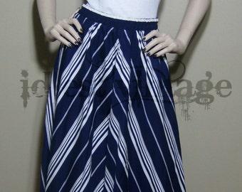 J. Hill Ltd Designer 2-Panel Maxi Skirt w/ pockets Vintage 1980's