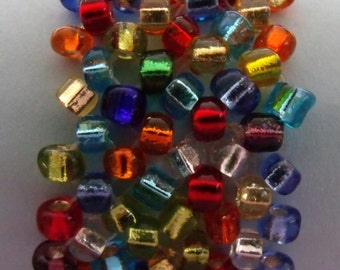 Multi colored glass bead bracelet