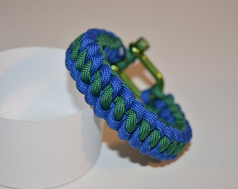 "550 Paracord Bracelet ""Rope"" stainless steel. Colors"