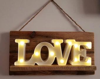 rustic love light