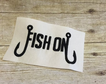 Fish On Embroidery Design, Fish On Applique