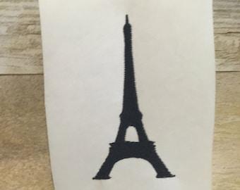 Eiffel Tower Embroidery Design, Eiffel Tower Applique